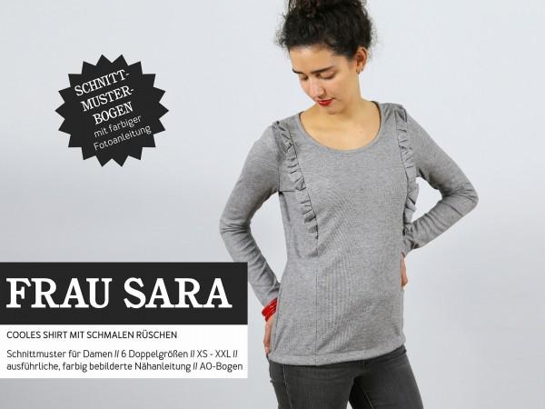 Schnittmuster/STUDIO SCHNITTREIF/Studio Schnittreif - Schnittmuster FrauSARA Shirt mit kleinen Rüschen Bild 1