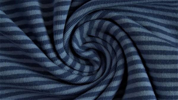 Stoffe/Basics/Ringeljersey, garngefärbt, jeans, dunkel Bild 1