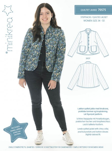 Pattern/MiniKrea/SM70575- Schnittmuster/Pattern Steppjacke/Quilted Jacket Bild 1