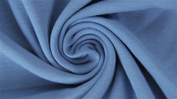 Stoffe/Basics/Sweat Uni/Summersweat, jeansblau Bild 1