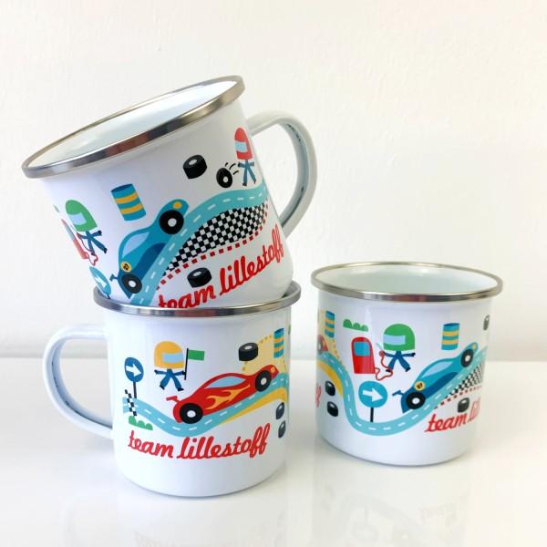 lillestoff-GT-Masters/Team Lillestoff, Emaille-Tasse Bild 1