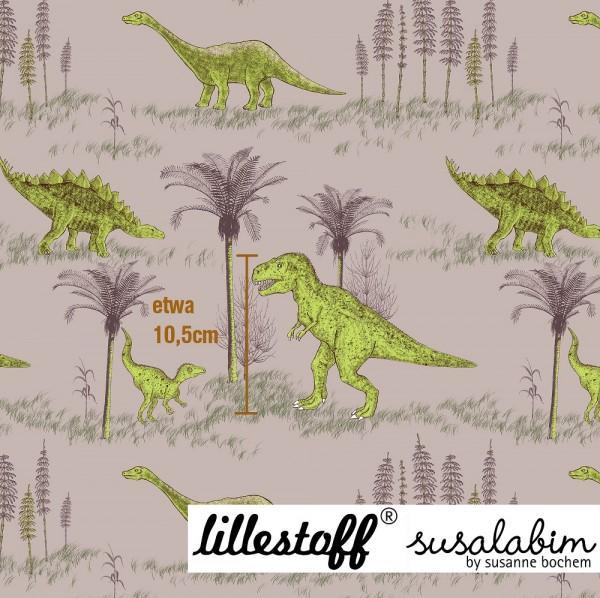 Fabrics/Designers/SUSAlabim/Dinowelt, beigegrün Bild 1