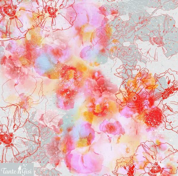 Fabrics/Designers/Tante Gisi/Blumenwolken Bild 1