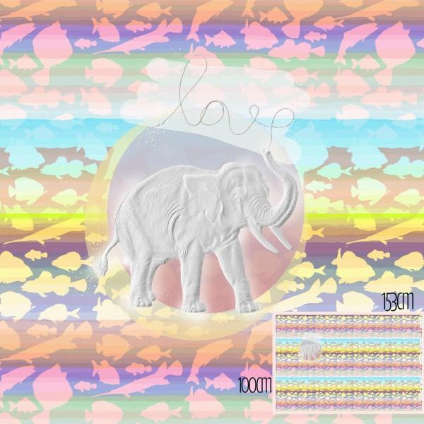 Fabrics/Designers/Tante Gisi/Der Sanfte Elefant Bild 1