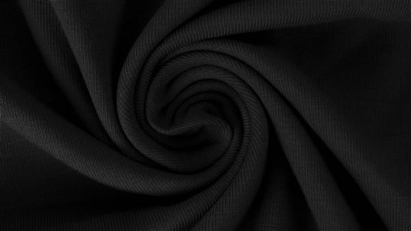Stoffe/Basics/Sweat Uni/Summersweat Brushed, schwarz Bild 1