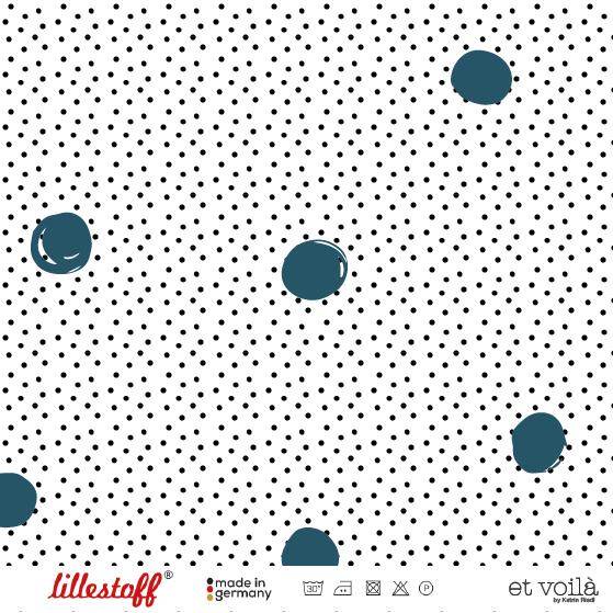 Stoffe/Designer/et voilà/Waffle Dots, petrol Bild 1