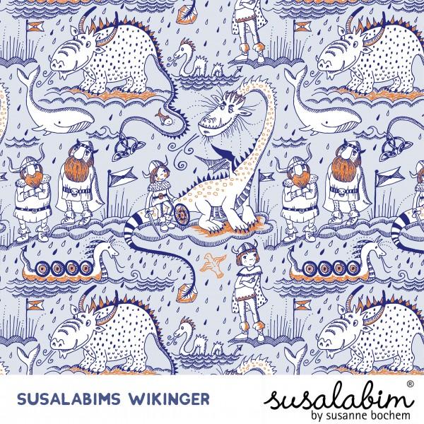 Stoffe/Designer/SUSAlabim/Susalabims Wikinger, blau Bild 1