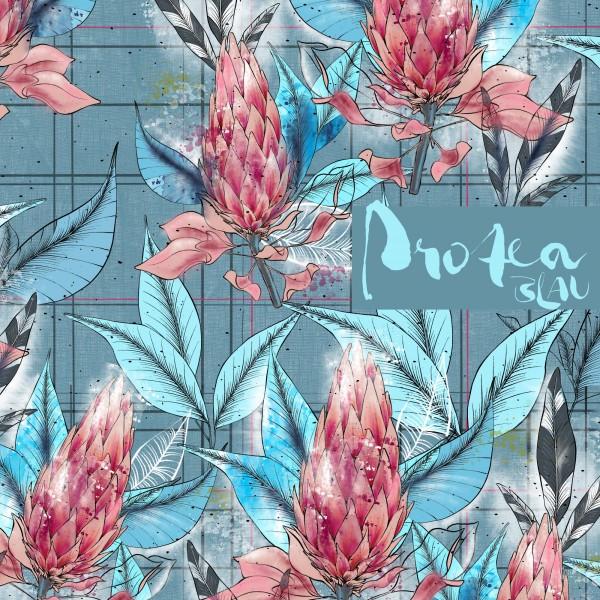 Stoffe/Designer/Tante Gisi/Protea, blau Bild 1