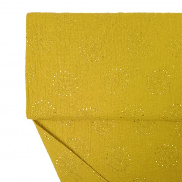 Stoffe/Basics/Musselin Löwenzahn, gelb/gold Bild 1