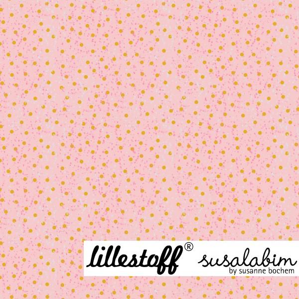 Fabrics/Designers/SUSAlabim/Susalabims Wichtelpunkte Rosagelb Bild 1