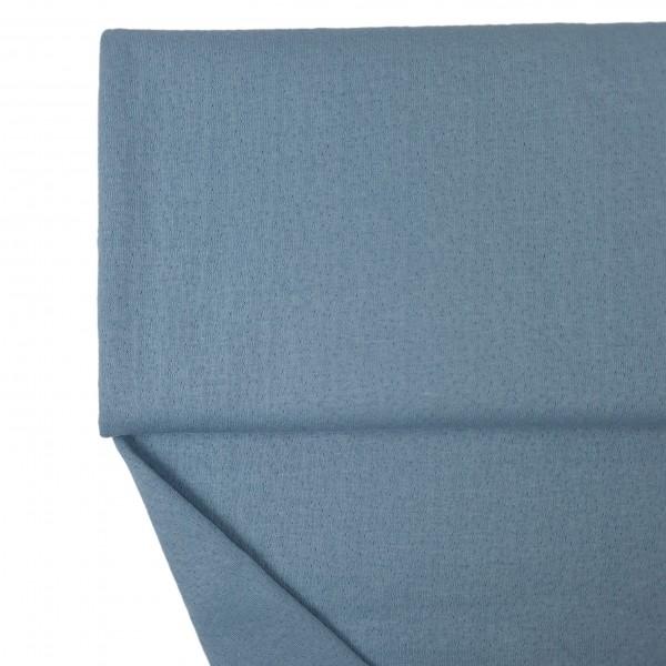Stoffe/Basics/Jacquard Uni/Jacquard Double Face, jeansblau Bild 1