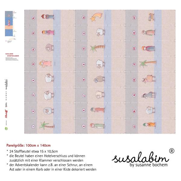 Stoffe/DIY-Bastelpakete/Susalabims Adventskalender Krippenspiel, hell Bild 1