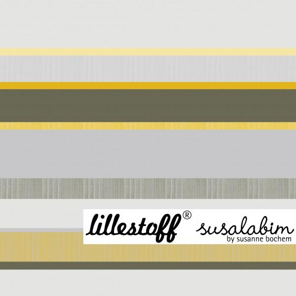 Fabrics/Designers/SUSAlabim/Frühlingsringel grau gelb Bild 1