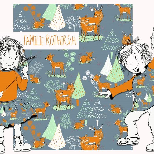 Fabrics/Designers/Tante Gisi/Familie Rothirsch Bild 1