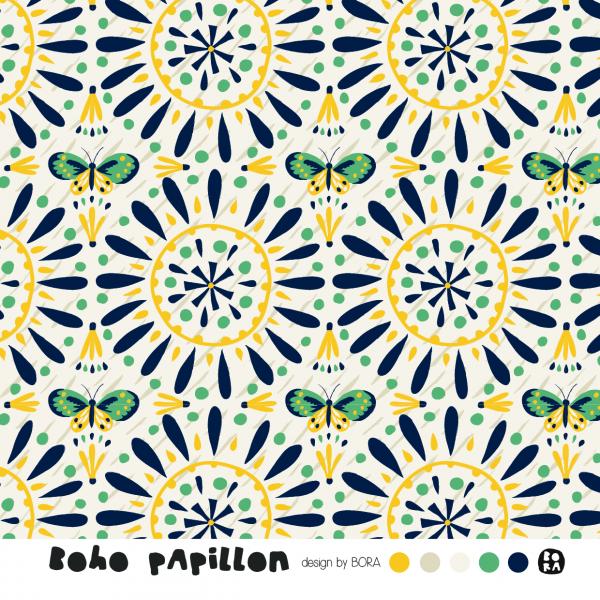 Fabrics/Designers/BORA/Boho Papillon Bild 1