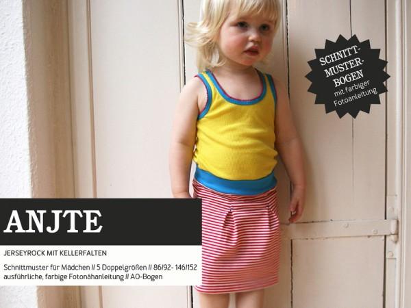 Pattern/STUDIO SCHNITTREIF/Studio Schnittreif - Schnittmuster ANTJE Jerseyrock für Mädchen Bild 1