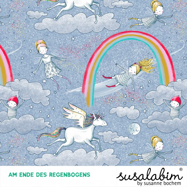 Stoffe/Designer/SUSAlabim/Am Ende Des Regenbogens Bild 1