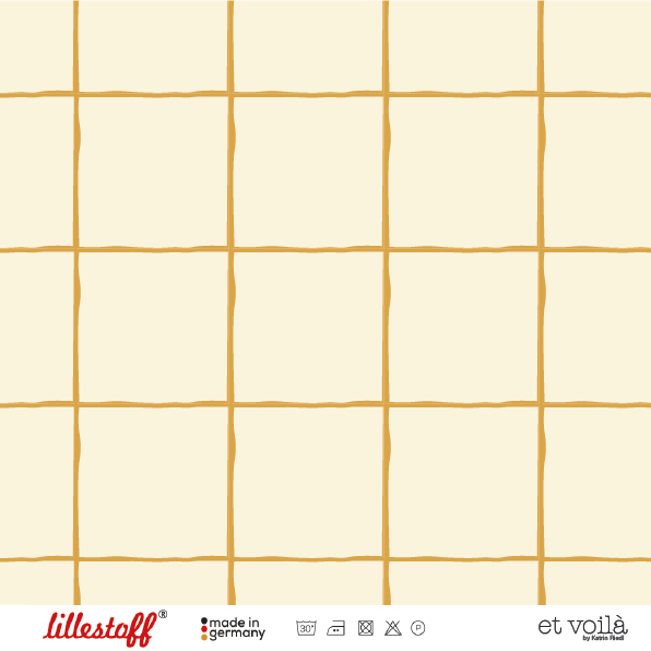 Fabrics/Designers/et voilà/Grid, mustard Bild 1