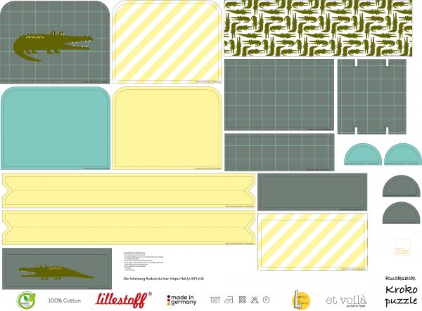 Stoffe/Designer/et voilà/Krokopuzzle Rucksack Bild 1