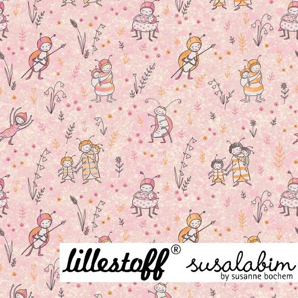 Fabrics/Designers/SUSAlabim/Susalabims Bienchen, rosa Bild 1