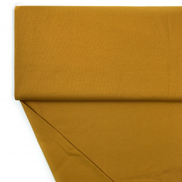 Stoffe/Basics/Rib Uni/Ribjersey, mustard Bild 1