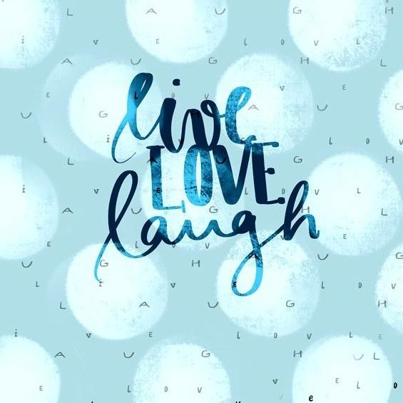 Stoffe/Designer/Miss Patty/Live Love Laugh Panel, Cosy Bild 1