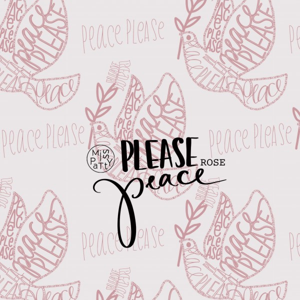 Fabrics/Designers/Miss Patty/Please Peace, rose Bild 1