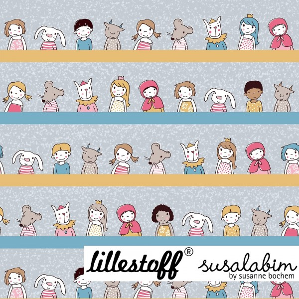 Stoffe/Designer/SUSAlabim/Girls And Friends blaupastell Bild 1