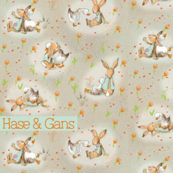 Fabrics/Designers/Tante Gisi/Hase & Gans Bild 1