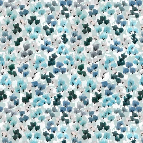 Stoffe/Designer/Enemenemeins/Katalinas Blumen, blau Bild 1