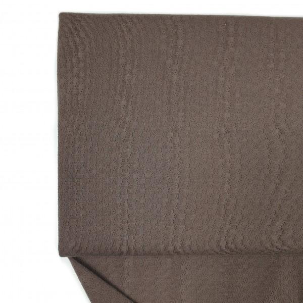 Fabrics/Basics/Solid Jacquard/Jacquardjersey, dunkelbraun Bild 1