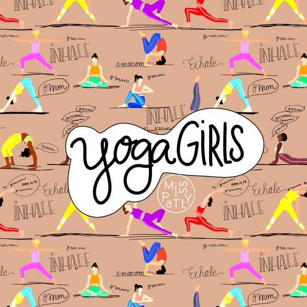 Stoffe/Figuren/Yoga Girls Bild 1