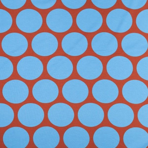 Fabrics/Designers/SUSAlabim/Riesenpunkte braun blau Bild 1