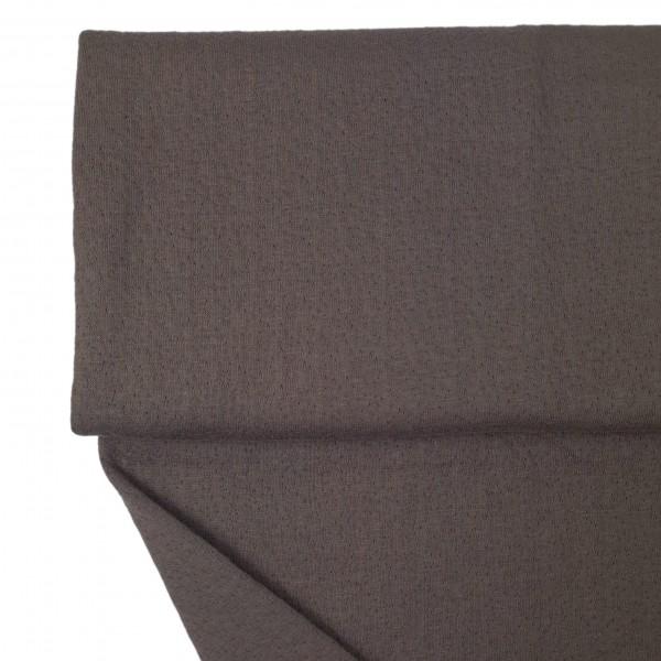 Fabrics/Basics/Solid Jacquard/Jacquard Double Face, dunkelbraun Bild 1