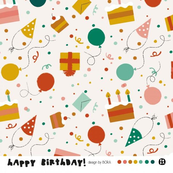 Stoffe/Designer/BORA/Happy Birthday Bild 1