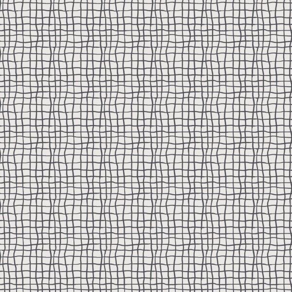 Stoffe/Designer/Enemenemeins/Monstera Grid, anthrazit Bild 1