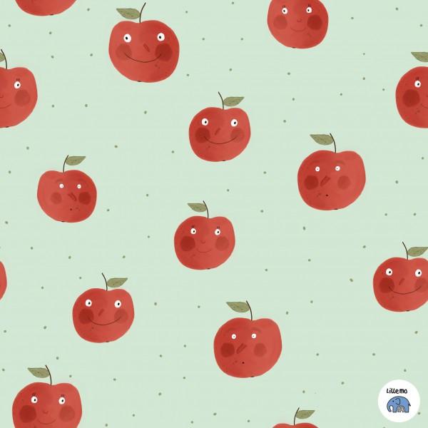 Fabrics/Designers/Lillemo/Äppel, grün Bild 1