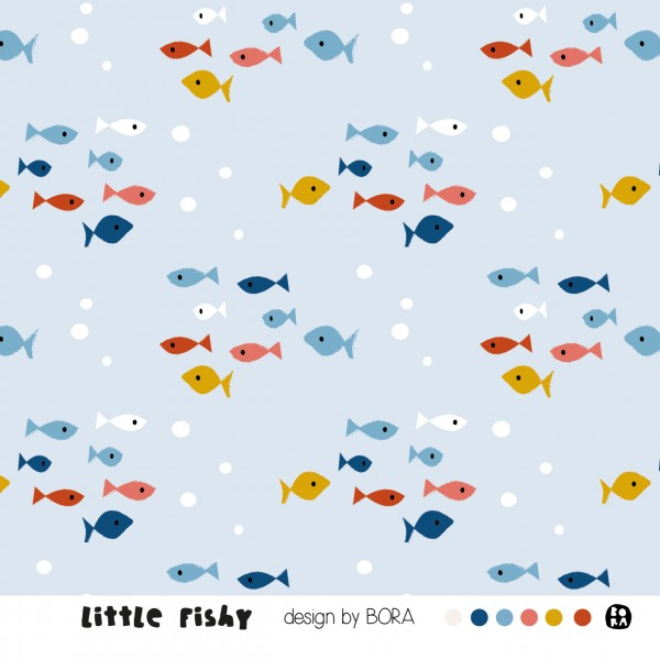 Fabrics/Designers/BORA/Little Fishy Bild 1