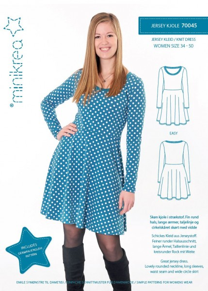 Pattern/MiniKrea/SM70045 Schnittmuster/Pattern Jersey Kleid/Knit dress Bild 1