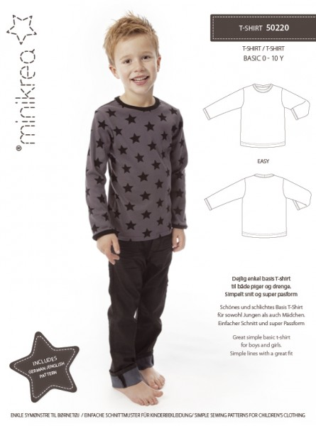 Schnittmuster/MiniKrea/SM50220- Schnittmuster/Pattern T-Shirt Bild 1