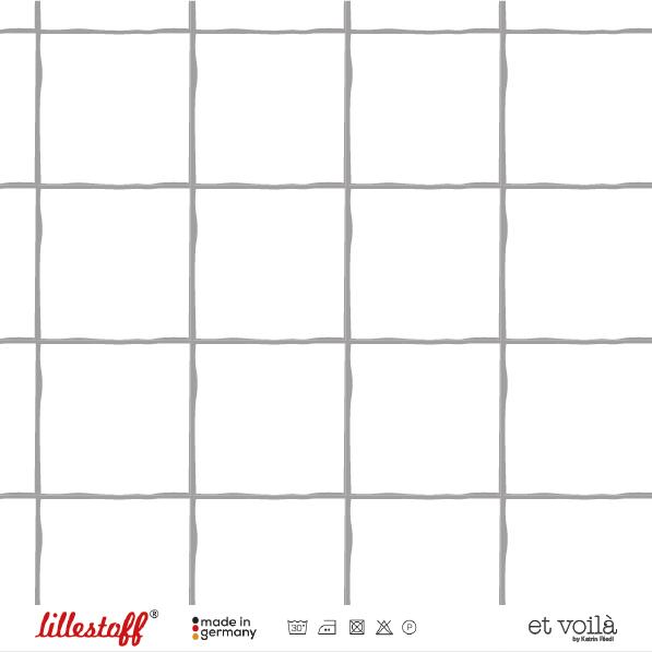 Fabrics/Designers/et voilà/Grid, grau Bild 1