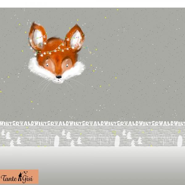 Stoffe/Designer/Tante Gisi/Fuchs im Winterwald Bild 1