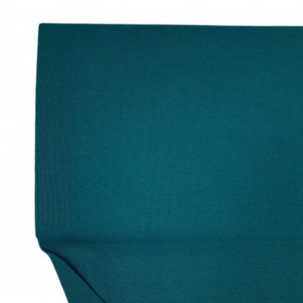 Stoffe/Basics/Bündchen Uni/Schlauchbd., petrolgrün, glatt Bild 1