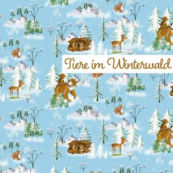 Fabrics/Designers/Tante Gisi/Tiere Im Winterwald Bild 1