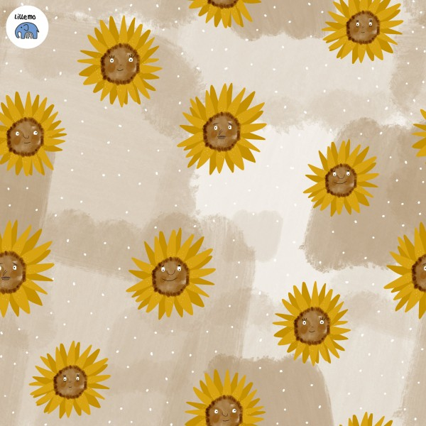Stoffe/Designer/Lillemo/Sonnenblumen, sand Bild 1