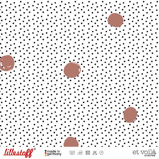 Fabrics/Designers/et voilà/Waffle Dots, terracotta Bild 1