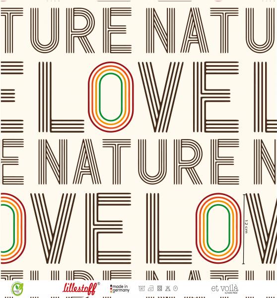 Fabrics/Designers/et voilà/Love Nature Regenbogen Bild 1