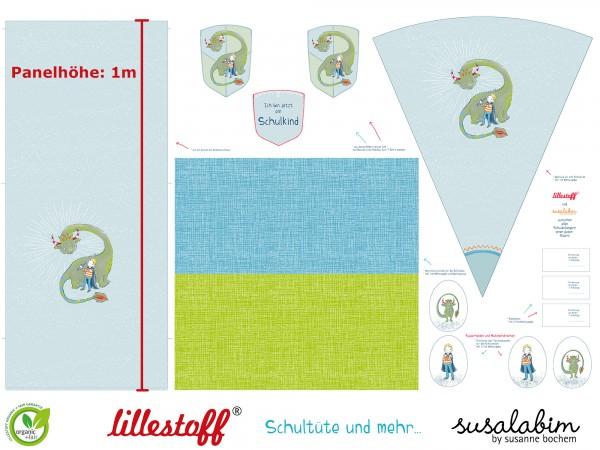 Stoffe/Designer/SUSAlabim/Schultüte Drache Bild 1