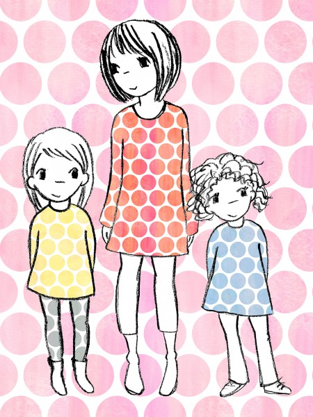 Fabrics/Designers/SUSAlabim/Riesenpunkte Aquarell, rosa Bild 1
