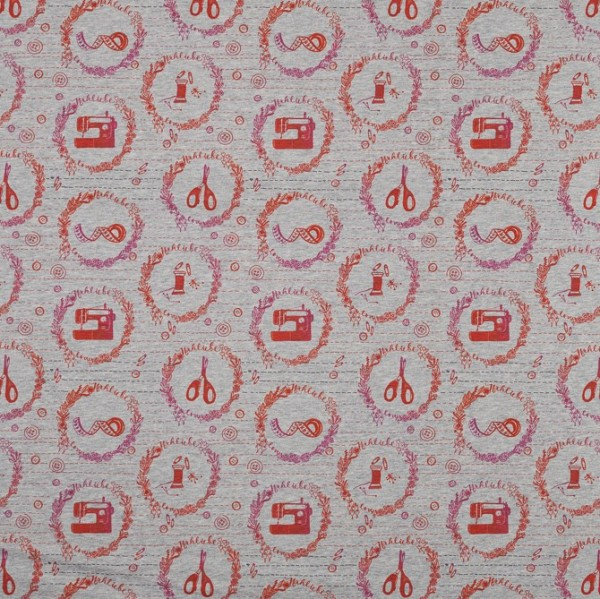 Fabrics/Designers/Miss Patty/Nähfee grau meliert Bild 1